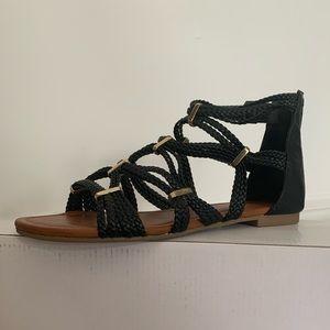 Aldo braided black sandals: in perfect conditions